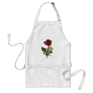 Red Rose of Love Portrait Adult Apron