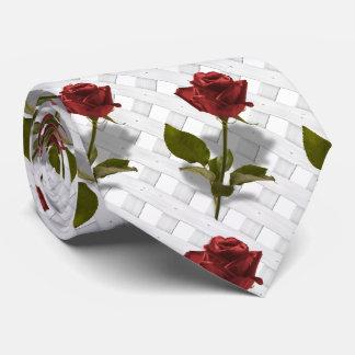 Red Rose of Love Portrait Neck Tie