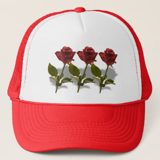 Red Rose of Love Portrait Trucker Hat