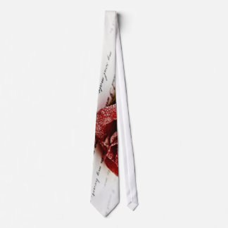 Red Rose On A Love Note Tie