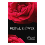 """Red Rose on Black Background 5"""" X 7"""" Invitation Card"""