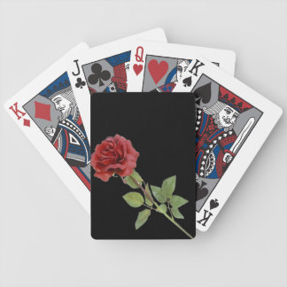 Red Rose on Black Bicycle Playing Cards