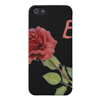 Red Rose on Black Cover For iPhone SE/5/5s