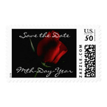 Red Rose on Black-customize Postage