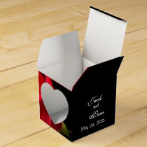 Red Rose on Black Heart favor box- customize Favor Box