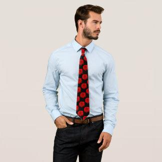 Red Rose on Black II Tie
