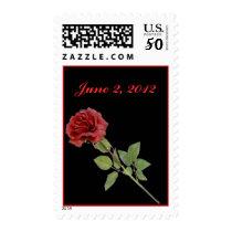 Red Rose on Black Postage