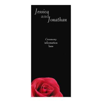 Red Rose on black Program Card