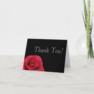 Red and Black Butterfly Thank you cards