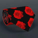 """Red Rose on Black Tie<br><div class=""""desc"""">Red Rose on Black Tie. This version of my most popular tie has the design on both the front and back.</div>"""