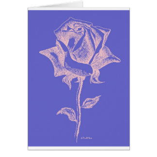 Red Rose on Purple Card