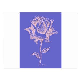 Red Rose on Purple Postcard