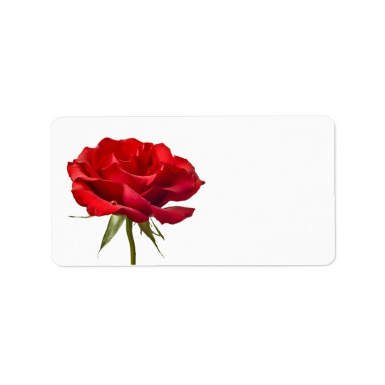 red rose on white customized roses template label zazzle com
