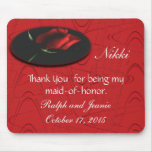 Red Rose onBlkGraphic,customize Mouse Pads