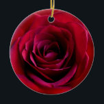 """Red Rose Ornament Personalized Rose Decorations<br><div class=""""desc"""">Romantic Rose Ornaments Personalized Holiday Red Rose Classic Flower Decorations Your Name Here Wedding Keepsake Customizable Romantic Red Rose Christmas Ornaments, Rose Gifts Hanukkah Neutral Holiday Decorations Rose Ornaments Keepsakes & Gifts for Weddings Anniversary I Love You Any Day Red Rose Decorations for Friend Family Men Women Kids Home &...</div>"""