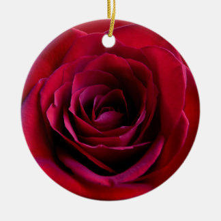 Red Rose Ornament Personalized Rose Decorations