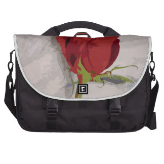 Red Rose Painterly Style Image From Photograph Laptop Bags