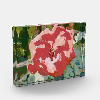 Red rose painting acrylic award