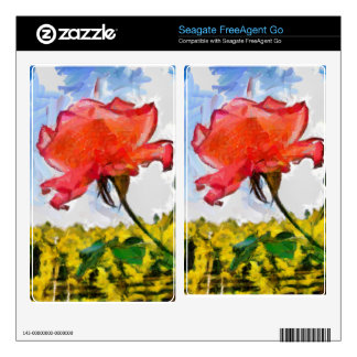 Red rose painting FreeAgent go skins