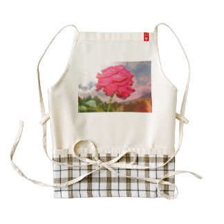 Red rose painting zazzle HEART apron