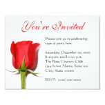 Red Rose Party Invitation