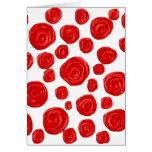 Red Rose Pattern. Card