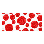 Red Rose Pattern. Customized Rack Card