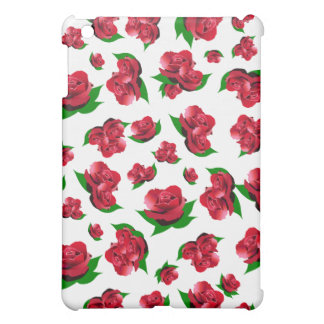 Red Rose Pattern iPad Mini Cover