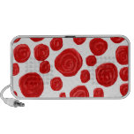 Red Rose Pattern. Mp3 Speakers