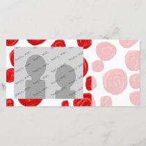 Red Rose Pattern on White.