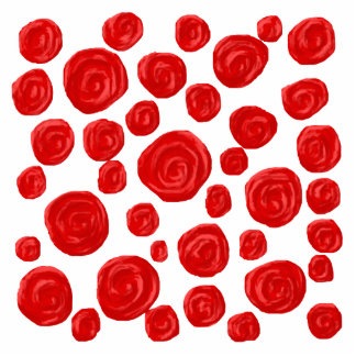 Red Rose Pattern. Photo Cut Outs