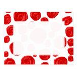 Red Rose Pattern. Postcard
