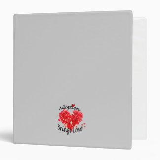 Red Rose Petal Heart Adoption Journal Binder