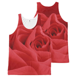 Red Rose Petals All-Over-Print Tank Top