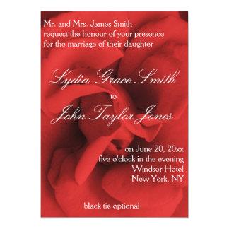 Red Rose Petals Elegant Wedding Invitations