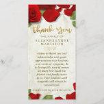 "Red Rose Petals Golden Thank You Sympathy Family<br><div class=""desc"">Red Rose Petals Golden Thank You Sympathy Family Card Art &amp; Design by Julie Alvarez</div>"