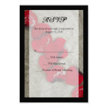 Red Rose Petals on Sand Beach Wedding RSVP 3.5x5 Paper Invitation Card