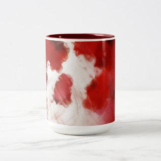 Red Rose Petals Painting Art 2 - Mug