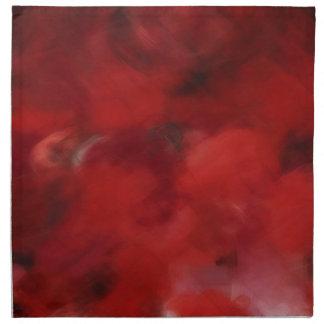 Red Rose Petals Painting Art 2 - Napkins