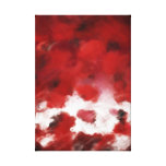 Red Rose Petals Painting Art 2 - Wrapped Canvas Canvas Print