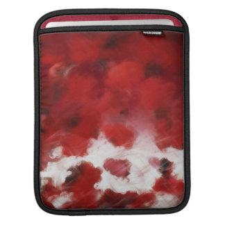 Red Rose Petals Painting Art - iPad sleeve
