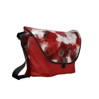 Red Rose Petals Painting Art - Messenger Bags
