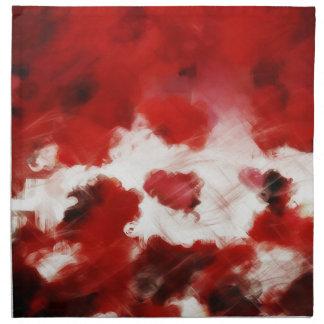 Red Rose Petals Painting Art Napkins