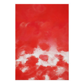 Red Rose Petals Painting Art Posters