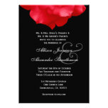 RED Rose Petals Wedding Invitation V02