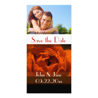 """Red Rose  /photo  """"Save the Date"""" Picture Card"""