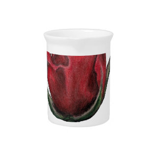 Red Rose Picture Pitcher