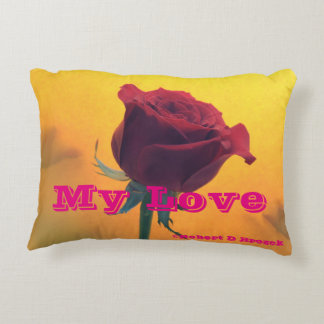 Red Rose Pillow Throw,