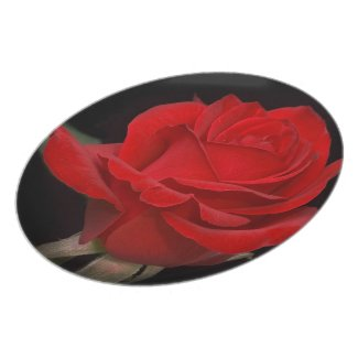 Red Rose Plate plate