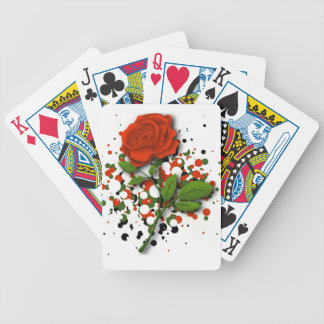 red rose playing cards
